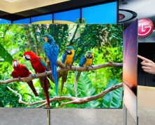 LG 55-inch OLED 3D TV at CES 2012